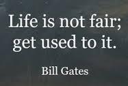 Life is not necessarily fair1