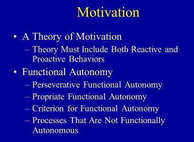 Functional Autonomy